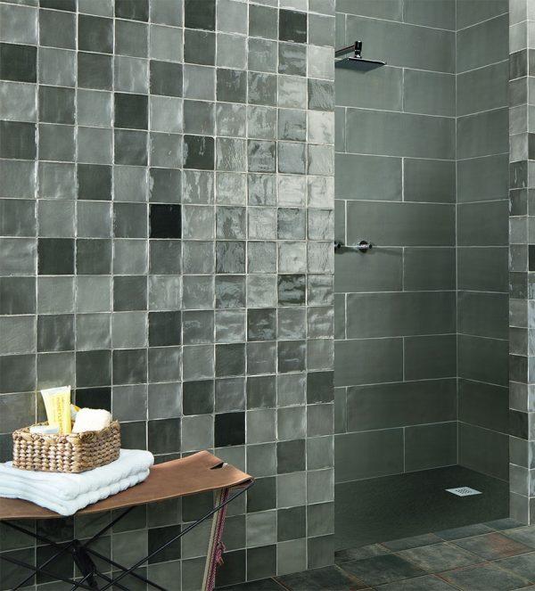 Zellige csempe fürdőszoba